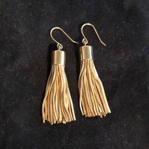 J. Crew gold metal tassel earrings